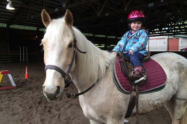 Horse lessons through Bainbridge Riding School