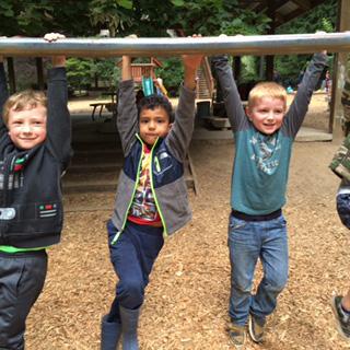 Outdoor playtime at Hazel Creek Montessori